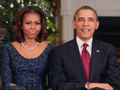 Obama and first lady offer holiday greetings
