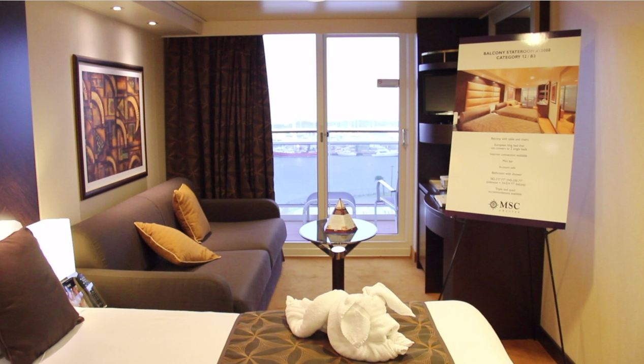 Video tour the allure of msc divina 39 s cabins for What does balcony mean