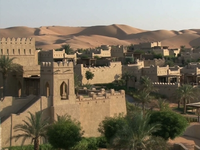 In the middle of the world's largest red sand desert is one of the most luxurious hotels on earth. The Qasr Al Sarab resort in Abu Dhabi's Empty Quarter celebrates Emirati culture and traditions. (Jan. 2)