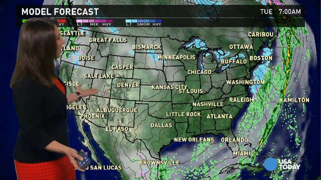 Tuesday's forecast: Savage cold in the East