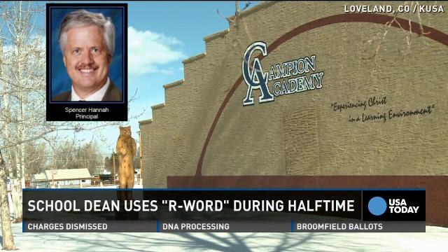 School administrator uses 'R' word over intercom