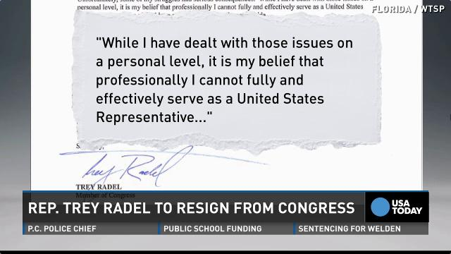 what is a letter of resignation rep trey radel resigns after plea 4987