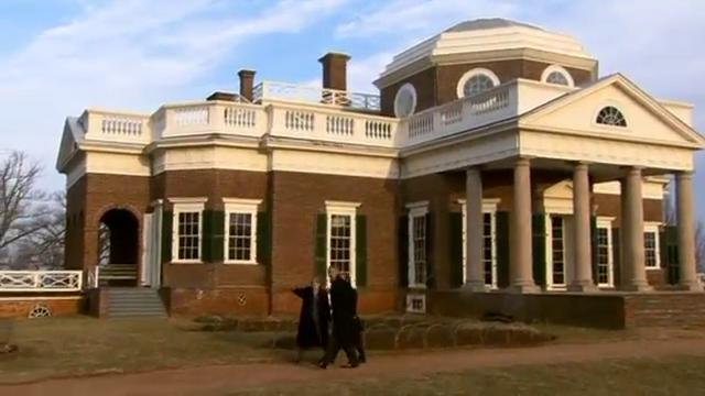 Hollande and Obama at Monticello