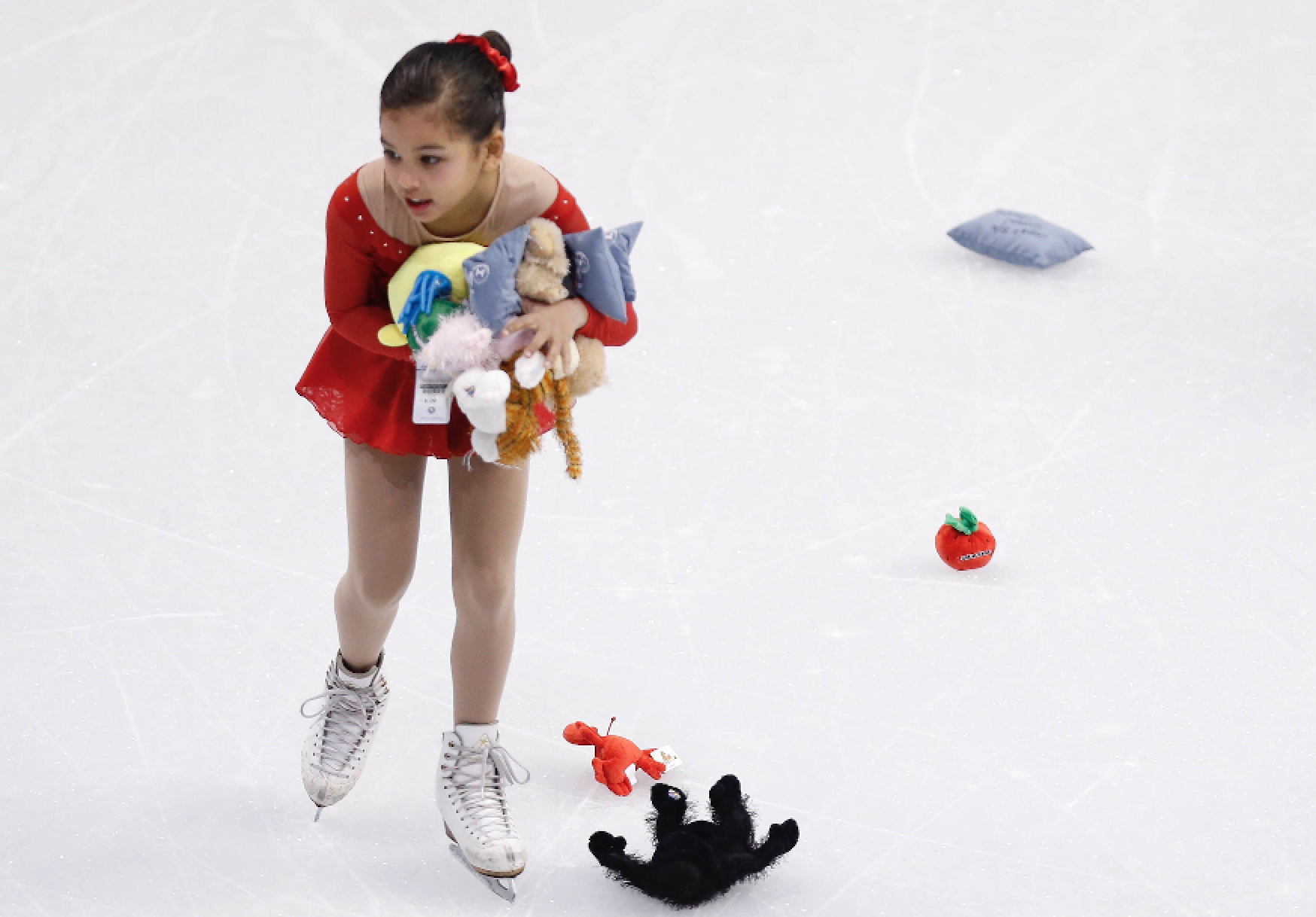 What do figure skaters do with all those stuffed a...