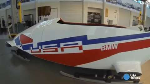 Get an inside look at Team USA's BMW bobsled