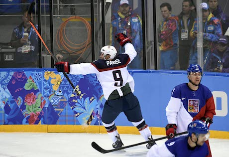 Men's Olympic hockey action in Sochi
