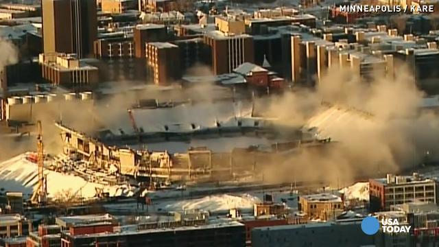 Watch dynamite blow up Minnesota's Metrodome