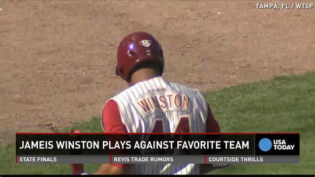 Jameis Winston strikes out against Yankees
