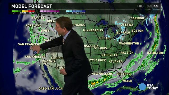 Wednesday's forecast: Big storm headed to California