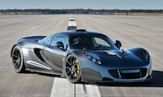 The makers of the Hennessey Venom GT say the car set a new world speed record for 2-seat sports cars by reaching a top speed of 270.49 mph.