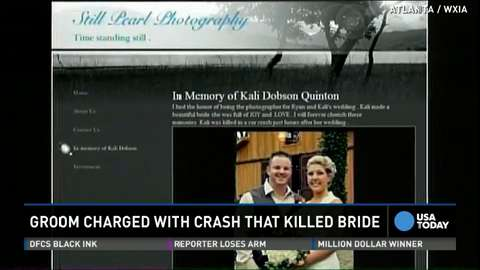 Husband charged in crash that killed newlywed bride