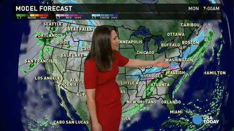 Monday's forecast: Another big storm headed to East