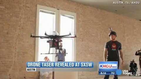 Flying taser drone stuns man with 80000 volts