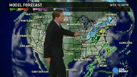 Wednesday's forecast: Wet, white and wild for East