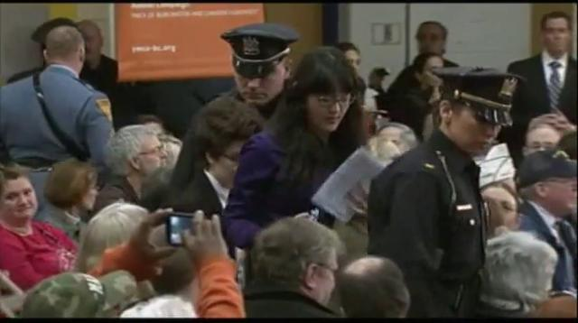 Governor Christie heckled at town hall