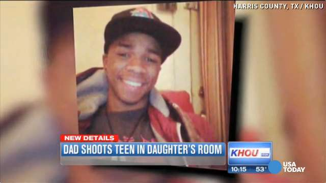 Dad shoots boy in teen daughter's room