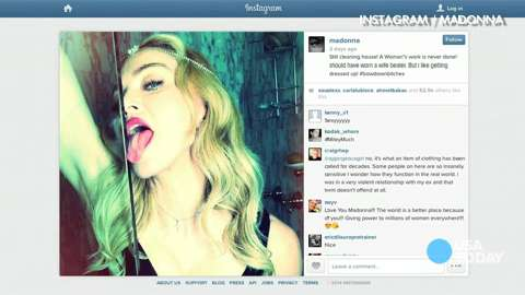 Madonna cleans up with her tongue? | DailyDish