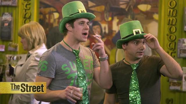St. Patrick's day: green beer, shamrock shakes and green apparel