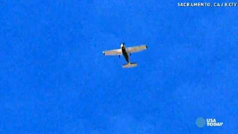 Mysterious plane in sky baffles residents
