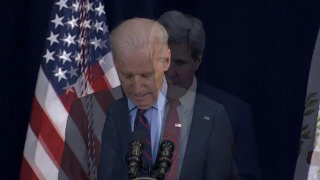 Biden, Kerry unveil world cup trophy in United States