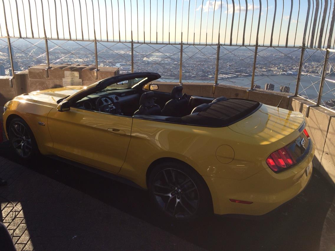 Ford puts a Mustang atop the Empire State Building