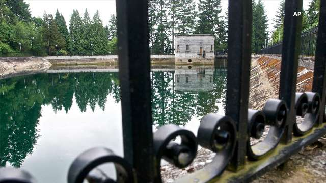 The 7.5 million gallons of Mount Tabor Reservoir No. 1 in Portland, Ore., shown here in June 20, 2011, were drained in that year because a man urinated in the water. This time water officials will dump 38 million gallons from reservoir No. 5.