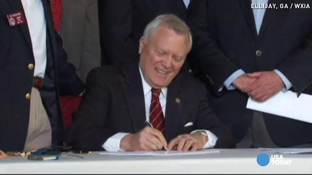 """Our state has some of the best protections for gun owners in the United States. And today we strengthen those rights protected by our nation's most revered founding document,"" Georgia Gov. Nathan Deal said in signing the bill."