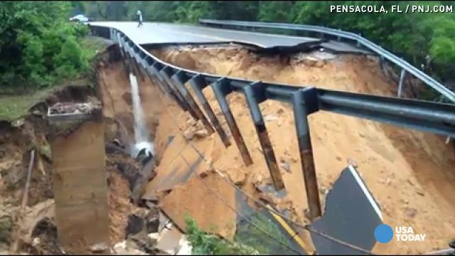 Severe flooding takes out Florida scenic highway