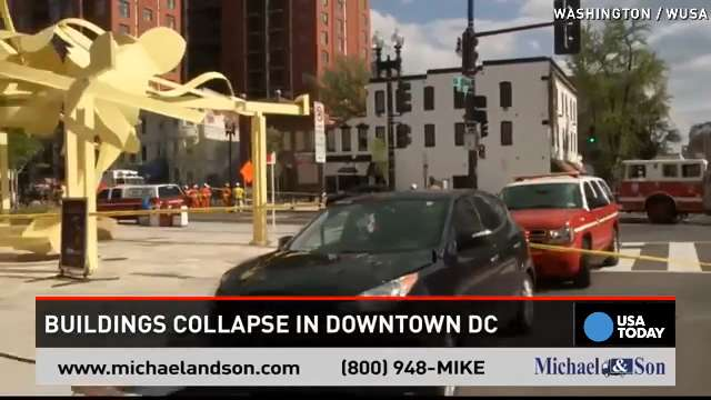 Two buildings collapse in DC, strip club evacuated