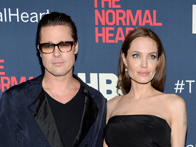 Angelina supports Brad's 'Normal Heart'