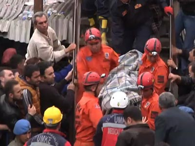 Rescuers work to save trapped miners in Turkey