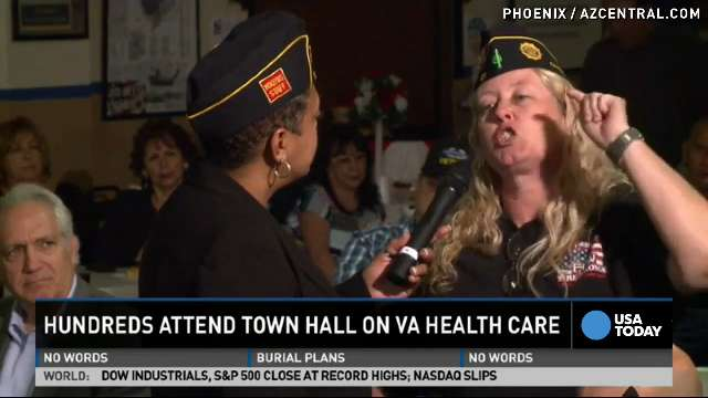 Emotional veterans demand change at VA hospital