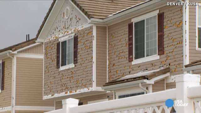 Hail Storm Leaves Huge Holes In Denver Homes