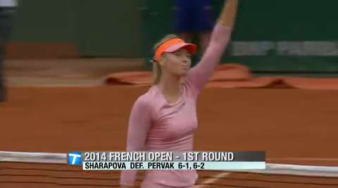 Tennis Channel Court Report: Sharapova shows prowess