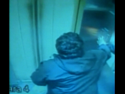 Raw: Terrifying ride in Chile elevator