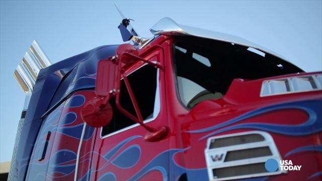 'Transformers' star truck goes green
