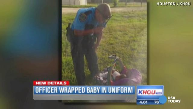 Jogger finds missing baby 'in the grass' along roa...