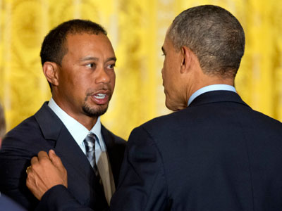 Obama applauds 2013 Presidents Cup golfers