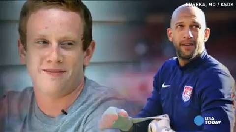 Tim Howard shares special bond with 16-year-old
