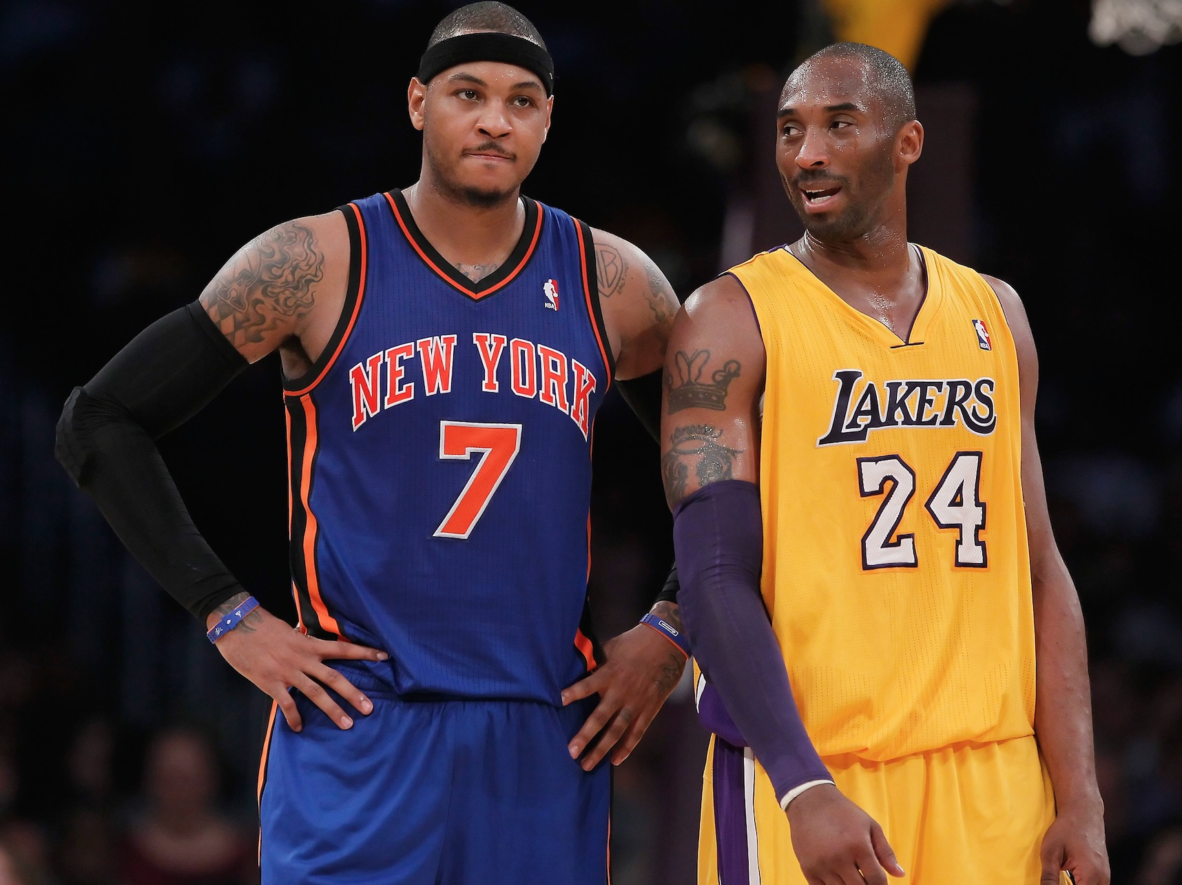 Kobe Bryant Absent As Lakers Pitch To Carmelo Anthony