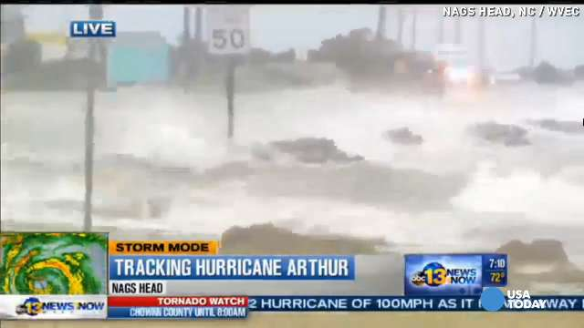 Hurricane Arthur slams coast as Category 2 | USA NOW