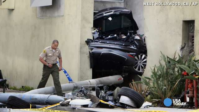 Dramatic Tesla crash could back safety claims   USA NOW
