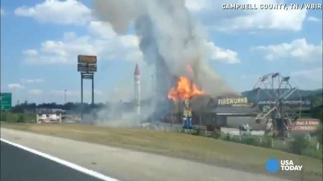 Giant flames engulf Fireworks Superstore