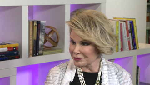 "Comedian author Joan Rivers talks about her latest book, 'Diary of a Mad Diva,' in which she dishes on some ""135 celebrities"" in an admittedly non-politically correct way."