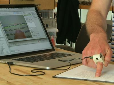 'Seeing-Eye' ring helps blind read with finger