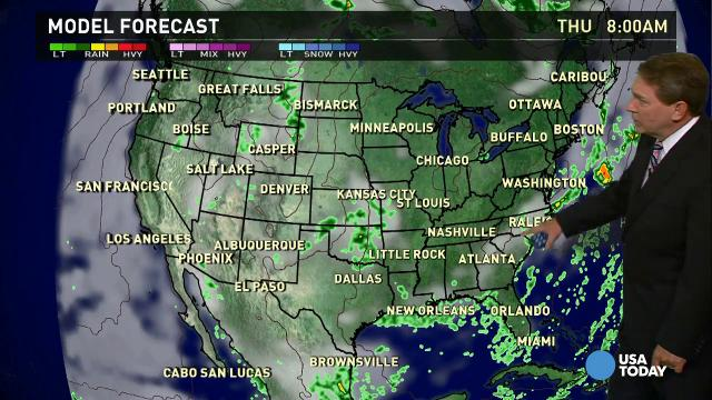 Wednesday's forecast: Soggy East Coast