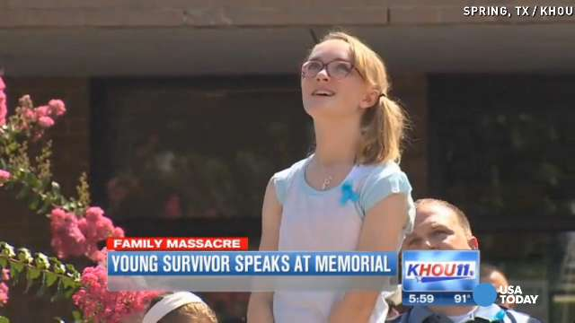 Lone shooting survivor says family is in 'better place'