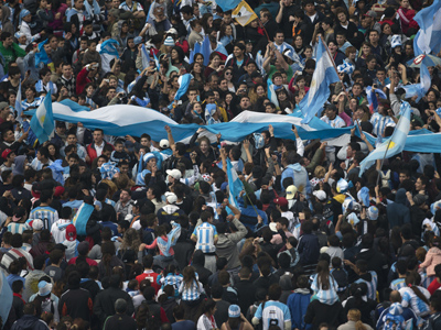 Raw: Argentina WC team welcomed home