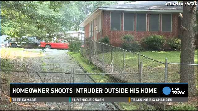 An homeowner shot and killed an apparent intruder outside his southwest Atlanta home July 14, 2014.