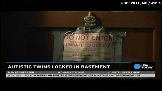 Parents accused of locking autistic twins in basement